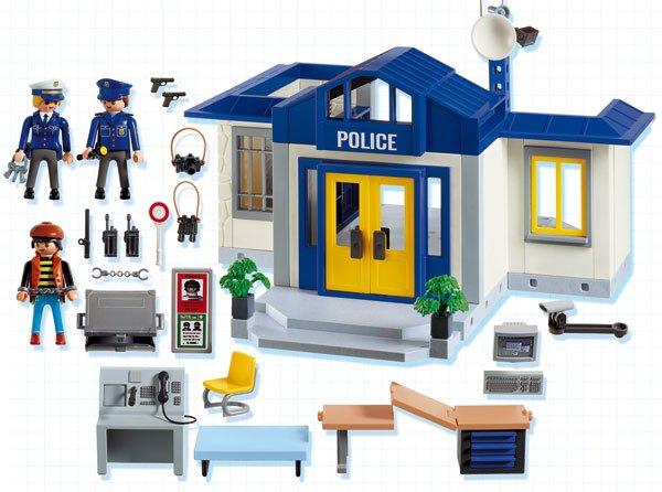Playmobil 5718-usa - Police Station - Back
