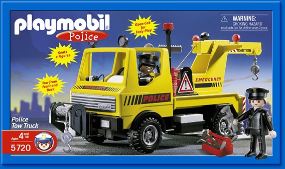 Playmobil set 5720 usa police tow truck klickypedia - Playmobil camion ...