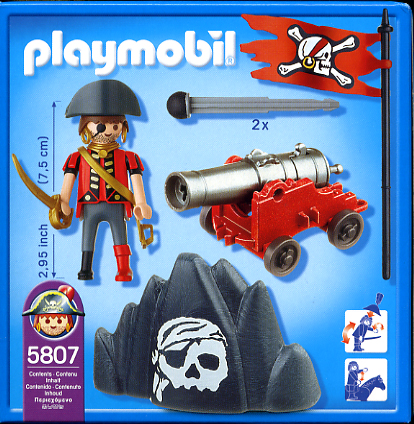 Playmobil 5807-usa - pirate with cannon - Back
