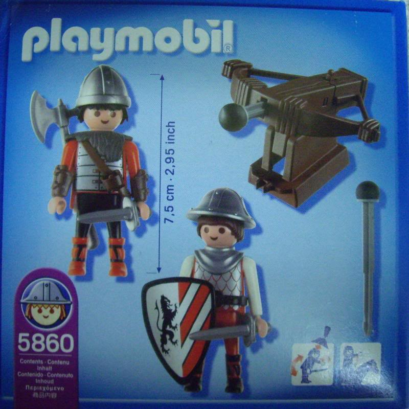 Playmobil 5860-usa - Knights with Crossbow - Back