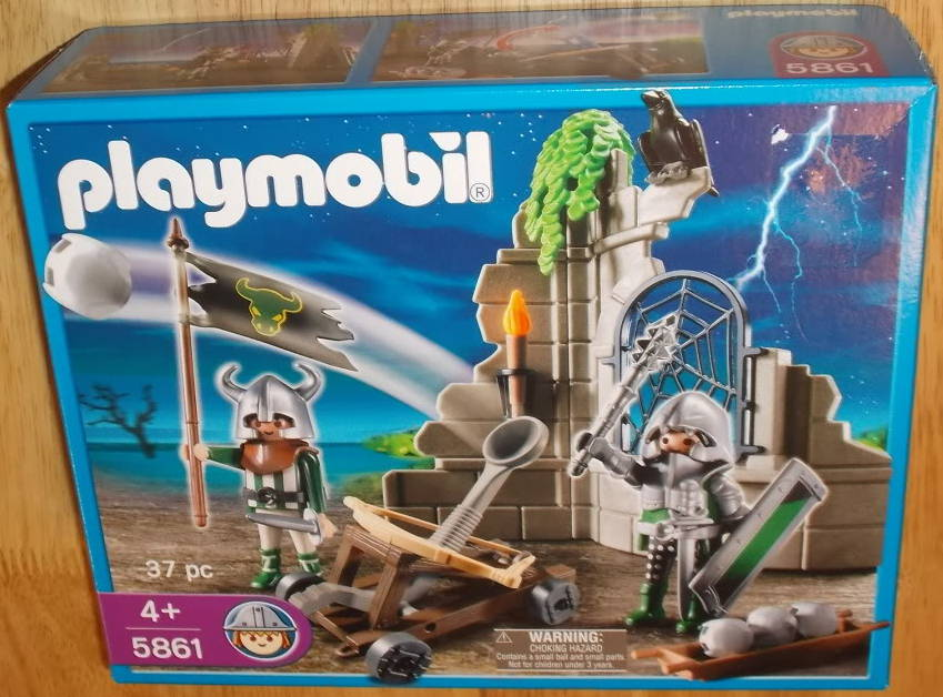 Playmobil set 5861 usa knights ruin klickypedia for Playmobil caballeros