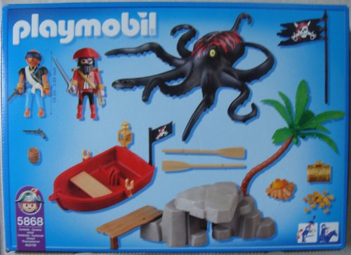 Playmobil 5868-usa - octopus attack - Back