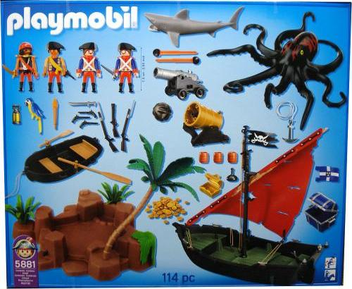 Playmobil 5881-usa - Pirates Super Set - Back