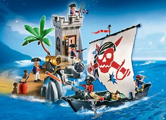 Playmobil - 5919-usa - Set Tour de guet et chaloupe de pirates