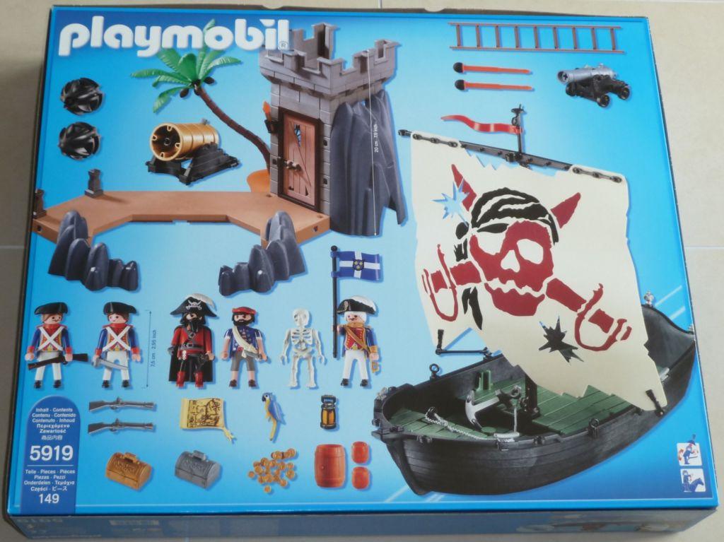 Playmobil 5919-usa - pirate bastion set - Back
