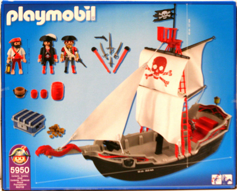 Playmobil 5950-usa - skull and bones pirate ship - Back