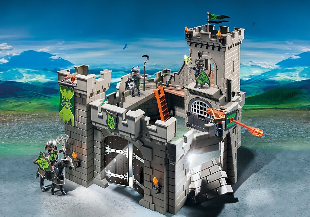 Playmobil set 6002 gre esp usa wolf knights castle for Playmobil caballeros