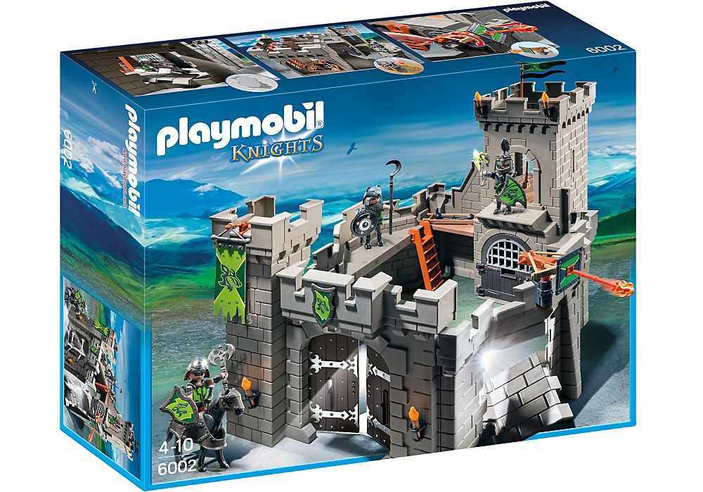 Playmobil 6002-gre-esp-usa - Wolf Knights` Castle - Box