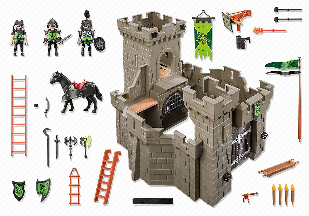 Playmobil 6002-gre-esp-usa - Wolf Knights` Castle - Back