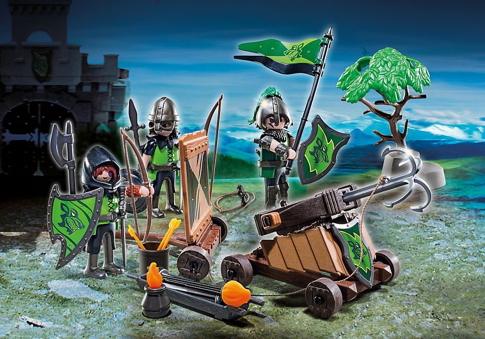 Playmobil set 6041 gre esp usa wolf knights with for Playmobil caballeros