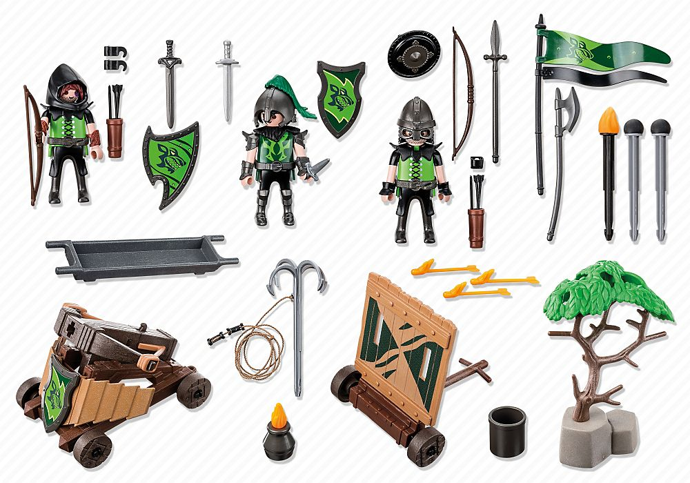 Playmobil 6041-esp-gre-usa - Wolf Knights with Catapult - Back