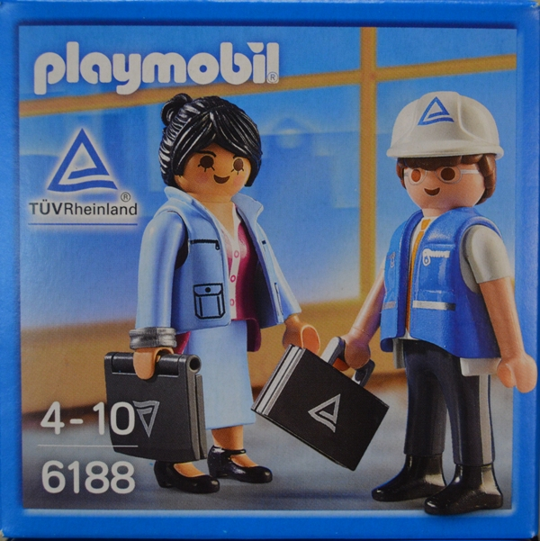 Playmobil 6188-ger - Industrial auditors - Box