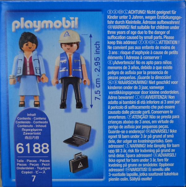 Playmobil 6188-ger - Industrial auditors - Back