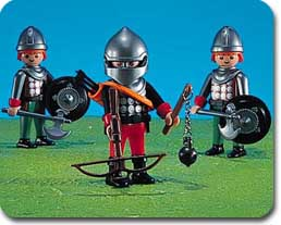 Playmobil - 7196 - 3 Knights With Weapons