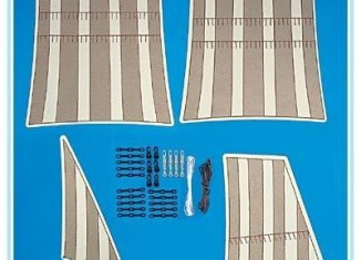 Playmobil - 7614 - replacement sails for pirate ship (3940)