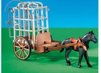 Playmobil - 7925 - Horse cart with cage