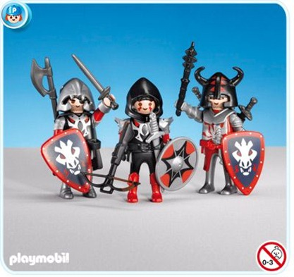 Playmobil set 7975 3 red dragon knights klickypedia for Playmobil caballeros