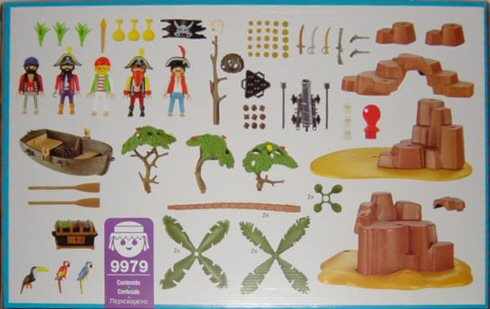 Playmobil 9979-esp - Pirate Cove - Back