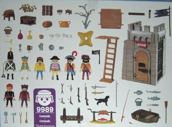 Playmobil 9989-esp - Pirate Jail And Barbecue - Back