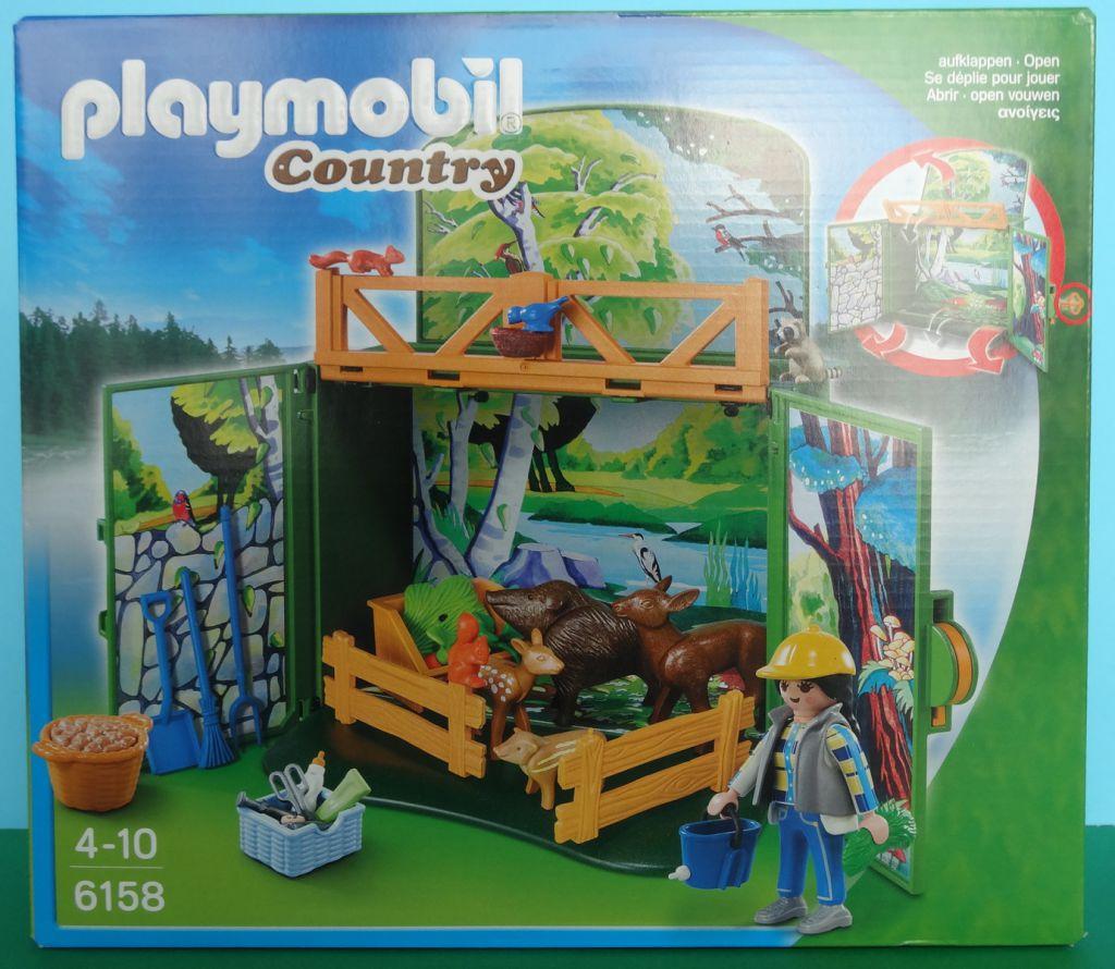"Playmobil 6158 - Aufklapp-Spiel-Box ""Waldtierfütterung"" - Box"