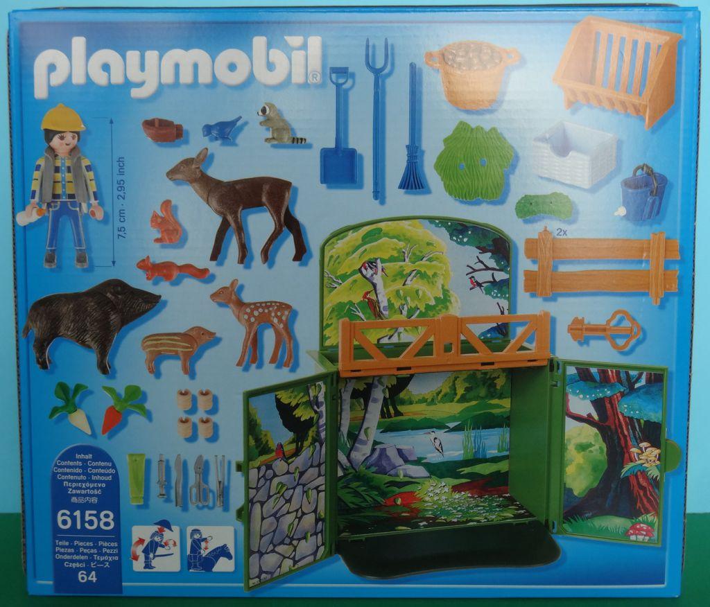 "Playmobil 6158 - Aufklapp-Spiel-Box ""Waldtierfütterung"" - Back"