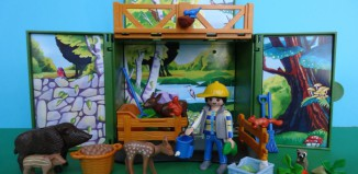 "Playmobil - 6158 - Aufklapp-Spiel-Box ""Waldtierfütterung"""