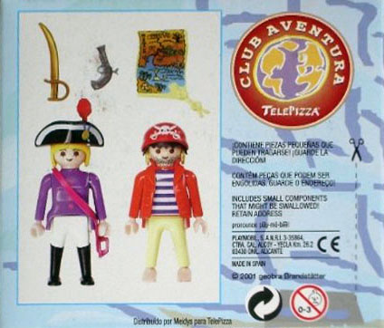 Playmobil 0000v1-esp - Telepizza Give-away Pirates - Back