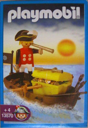 Playmobil 1-3570-ant - Pirate with Boat - Box