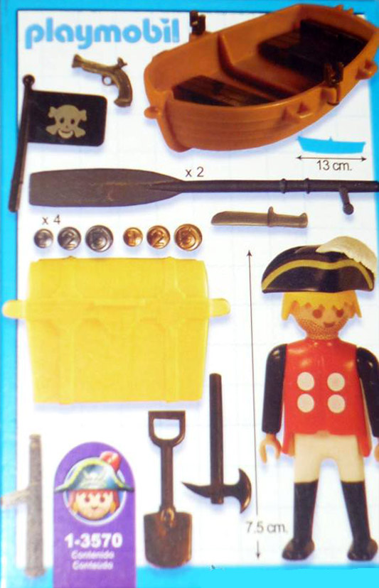 Playmobil 1-3570-ant - Pirate with Boat - Back