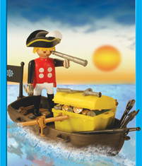 Playmobil - 1-3570-ant - Pirate with Boat