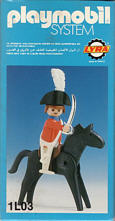 Playmobil - 1L03-lyr - redcoat officer / horse