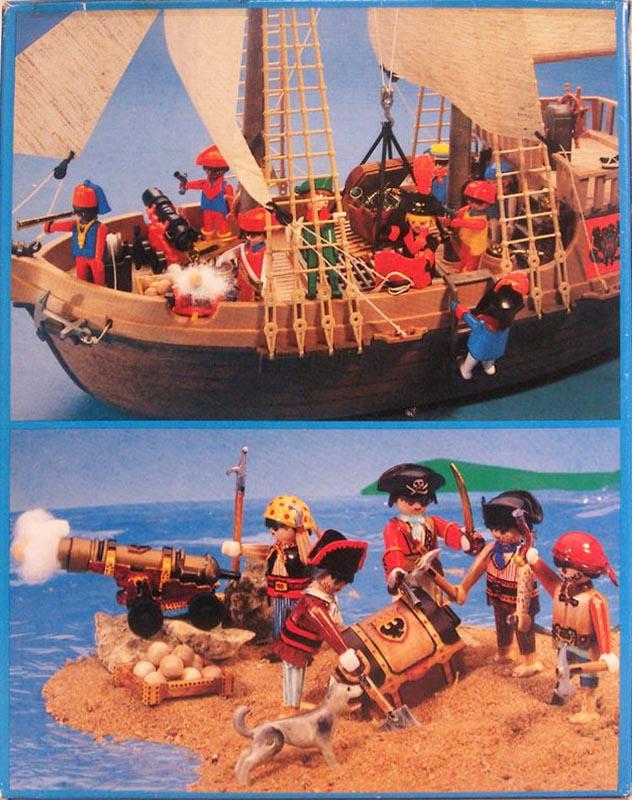 Playmobil 3051-usa - 4 pirates - Back