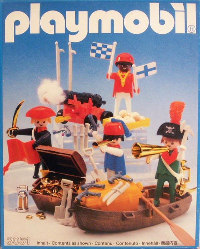 Playmobil 3051-usa - 4 pirates - Box
