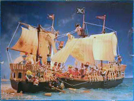 Playmobil 3053-usa - pirate ship - Back
