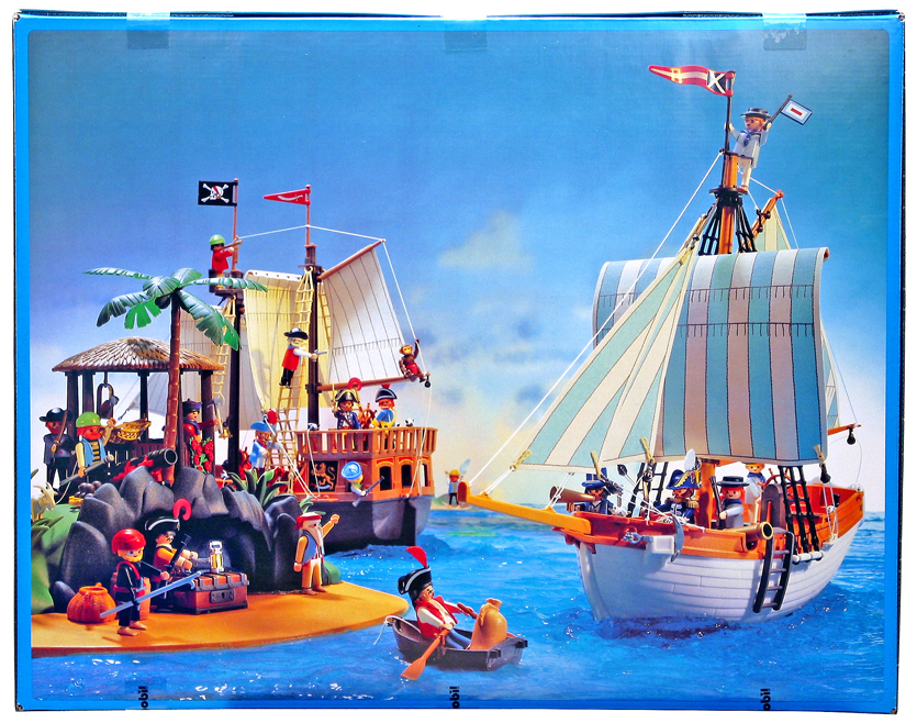 Playmobil 3055-usa - Schooner Ship - Back