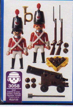 Playmobil 3058-usa - redcoats watch post - Back