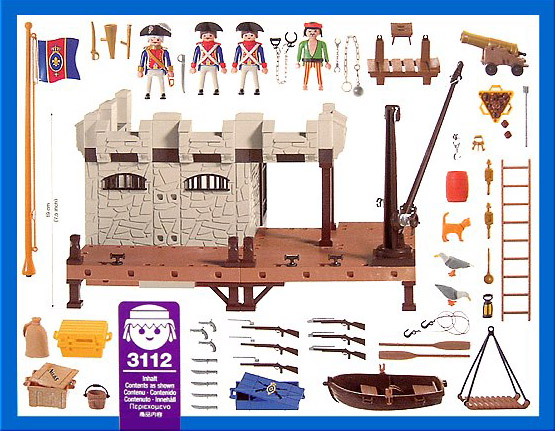 Playmobil 3112s2 - Prison fortress - Back