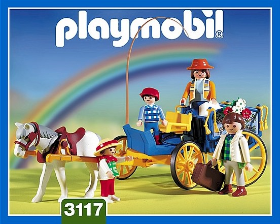 Playmobil 3117v1 - Horse & Buggy - Box