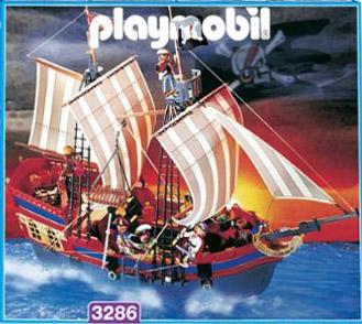 Playmobil 3286-usa - big pirate flagship - Box