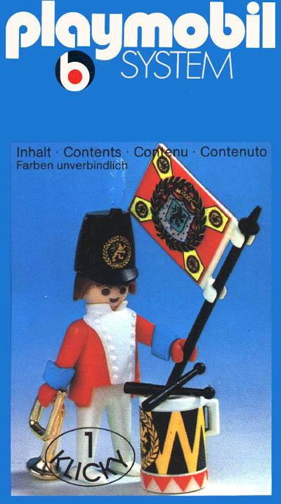Playmobil 3388 - redcoat guard / flag - Box