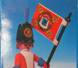 Playmobil - 3388-esp - redcoat guard / flag