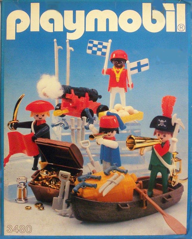 Playmobil 3480 - 4 pirates - Box