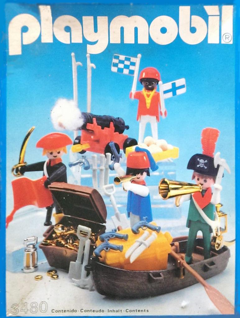 Playmobil 3480-esp - 4 pirates - Box