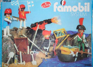 Playmobil - 3480-fam - 4 pirates