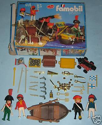 Playmobil 3480-fam - 4 pirates - Back