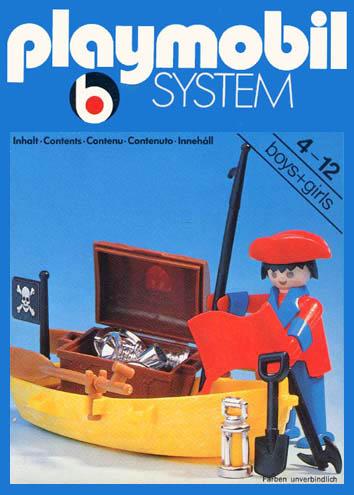 Playmobil 3570 V1 - pirate / rowboat - Box