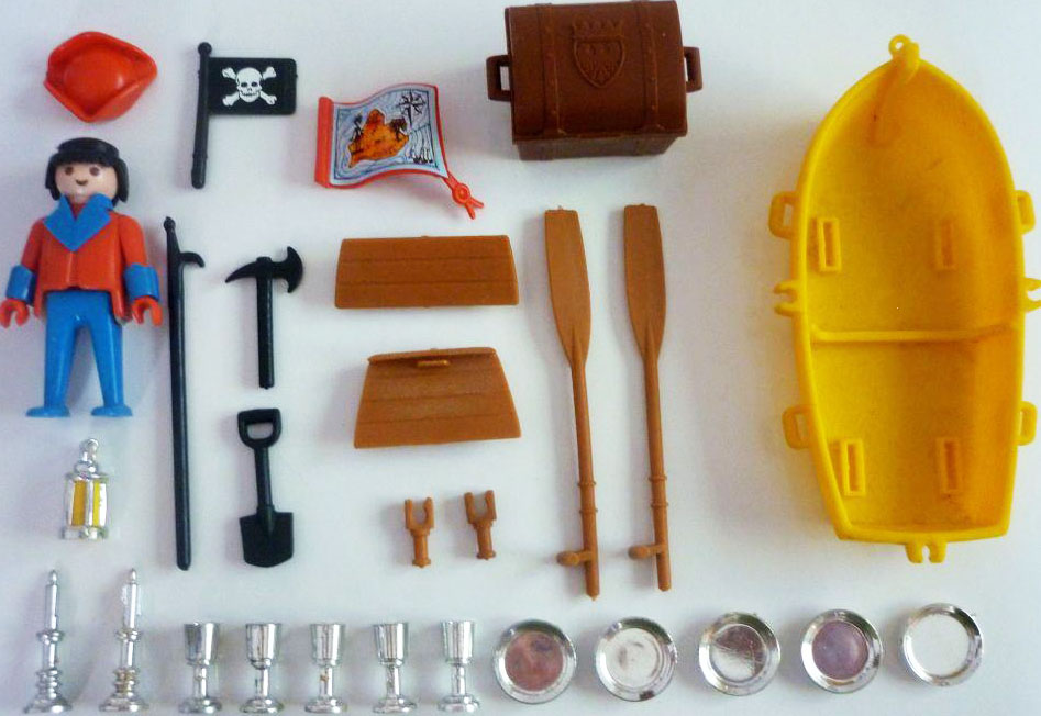 Playmobil 3570 V1 - pirate / rowboat - Back