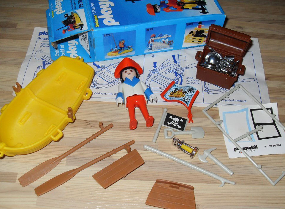 Playmobil 3570-sch - pirate / rowboat - Back