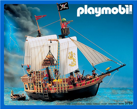 Playmobil 3750v1 - pirate ship - Box
