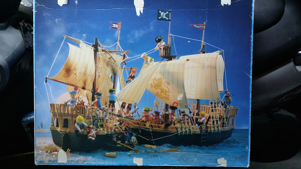 Playmobil 3750v1 - pirate ship - Back